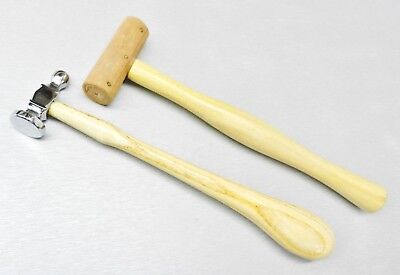 "Chasing Hammer & Rawhide Mallet 1"" Face Diameters Jewelry Making Tools -Set of 2"