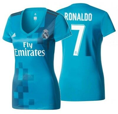 cheap for discount cd3c7 6fca8 Adidas Cristiano Ronaldo Real Madrid Women's Third Jersey 2017/18.