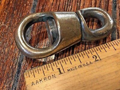 "Vintage Old Bronze Swivel Aprox 2 3/4"" Ball Bearing?? Very Smooth Turning"