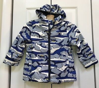JOULES Boys Sharks Raincoat FIREFLIES CHASING DREAMS Size 3Y