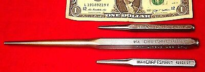 "Craftsman Punches, Two Center Punches, One 3/16"" Alignment Punch, Tools"