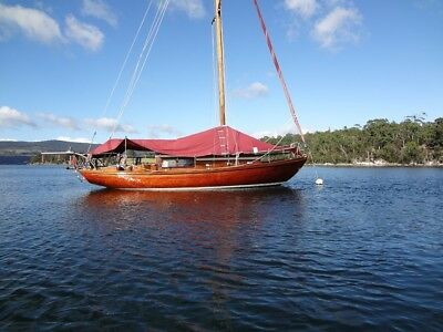 Beautiful Wooden Sailing Yacht, Sloop