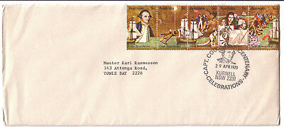 "1970 FDC. Captain Cook Bicentenary.  Pictorial Postmark ""KURNELL"""