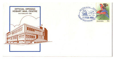 "1980 PictPMK. Official Opening Hobart Mail Centre. ""HOBART MAIL CENTRE"""