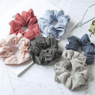 Lady Ponytail Bun Tie Scrunchies Flamingos Hair Band Elastic Scrunchie Hair Ring