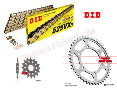 Yamaha MT09 DID Gold X-Ring Heavy Duty Chain & JT Sprocket Kit Set