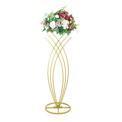102cm Ornate Metal Centrepiece or Plinth - Gold | Floral Decoration Stand