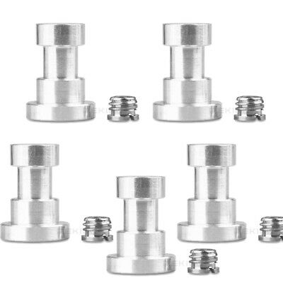 "5X 1/4""and 3/8"" Metal Female Threaded Tripod Screw Adapter to LightStand Bracket"