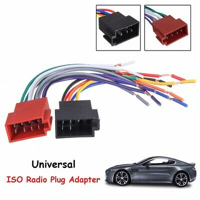 Universal Car Stereo Female Socket Radio ISO Wire Harness Adapter Connector 12V