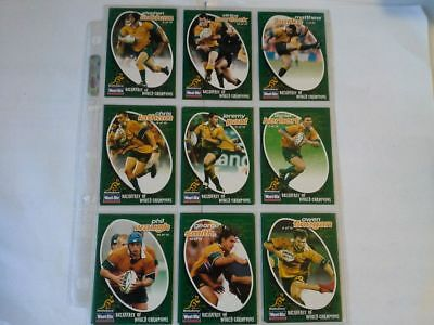 rugby union wallabies wheat Bix cards