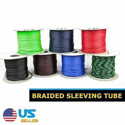 Expandable Braided Sleeve Tube Nylon Loom Wire Cable Manage 100FT All Colors LOT