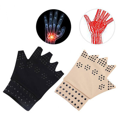 Copper Joint Fingerless Compression Gloves Magnetic Anti Arthritis Hand Support