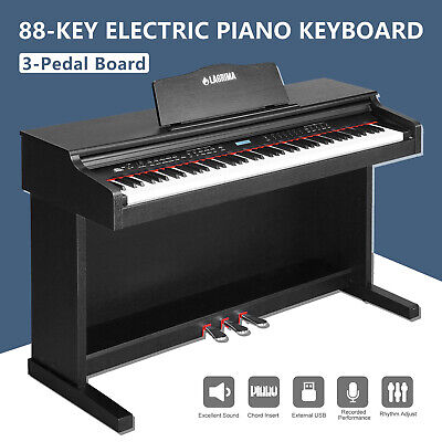 Beginner&Adults 88 Key LCD Digital Piano Electric Keyboard w/Cover+3 Pedal Board