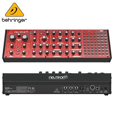 Behringer Neutron USB MIDI Live Paraphonic Analog Semi-Modular Synthesizer (Red)