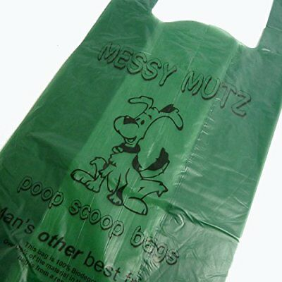 500 Biodegradable Dog Puppy Pet Poo Poop Waste Bags Eco Friendly Tie Handle Bag