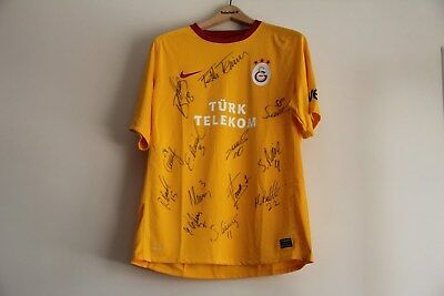Champion Galatasaray Fatih Terim 2018 Team Shirt Genuine Signed The Players