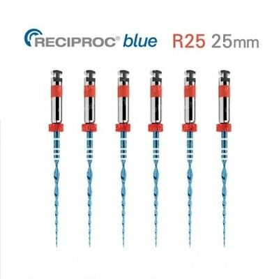 VDW RECIPROC Blue Dental Endo NiTi File R25 25mm 6pcs 1set