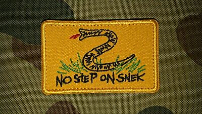 New Meme No Step On Snek Yellow Tactical Morale Airsoft Patch Australia Seller