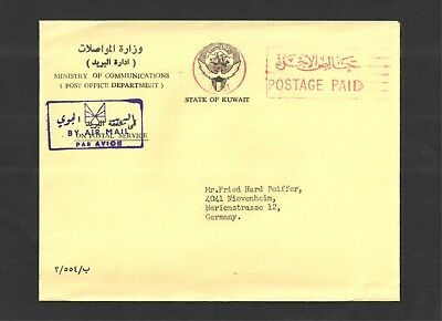 Kuwait 1983 - Commercial Mail Cover to Germany. By Airmail. See pics for info.