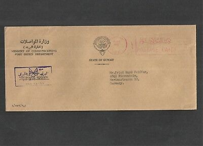Kuwait 1982 - Commercial Mail Cover to Germany. By Airmail. See pics for info.