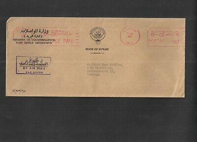 Kuwait 1981 - Commercial Mail Cover to Germany. By Airmail. See pics for info.
