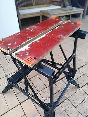 Black&  Decker Workmate Workbench Dual Height  Black Bench Tool Stand Sawhorse