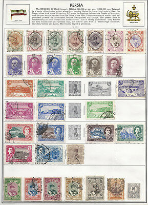 OLD PERSIA: Collection stamps on 8 scans.
