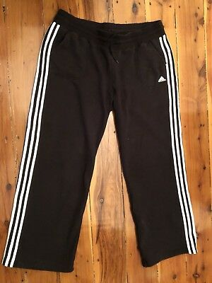 Authentic Adidas Women's Tracksuit Pants XL  Black With Three Strips Ladies