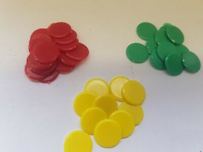 100 Plastic Board Game Counters Tiddly Winks Numeracy Teaching
