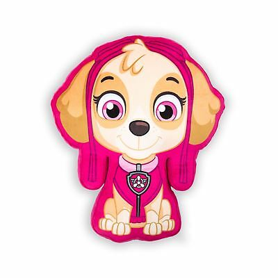 Paw Patrol Puppy Skye Shaped Cushion Pink Kids Girls Bedroom