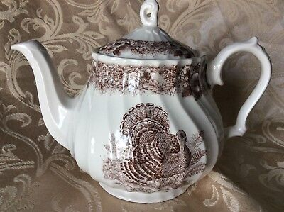 Thanksgiving turkey teapot myott factory porcelain archive illustrations