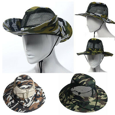 64549fd46a676 Military Bucket Hat Boonie Camping Fishing Climbing Outdoor Wide Brim vogue  Cap