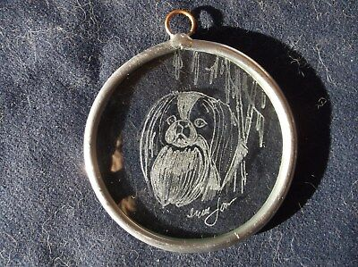 Japanese Chin- Hand engraved ornament by Ingrid Jonsson.