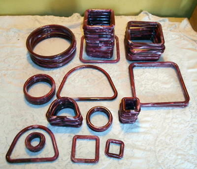MARBELLA Marbled Macrame Rings Lot Of 56 Mixed Sizes