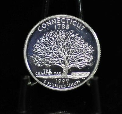 1999-S Choice Proof Silver Connecticut State Quarter [06DUD]