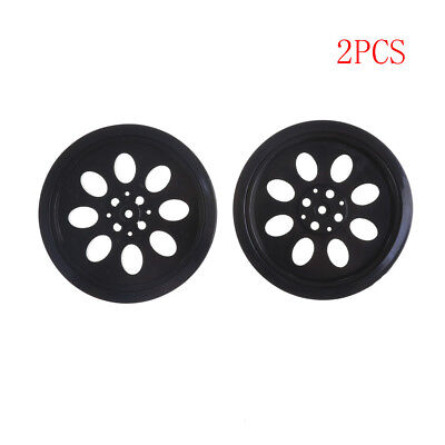 2PCS 70mm T25 Rubber Wheels Match 360 Degree Servo Wheels Parts For DIY Robot JL