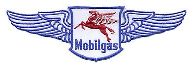 "8"" Mobil Patch with wings Gas Station Motor Oil Mobilgas Hot Rod Pegasus"