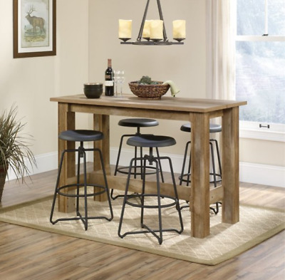 Counter Height Dining Table Rustic Wood Country Farmhouse Kitchen Island Desk