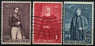 Belgium 1930 SG#565-7 Independence Centenary MH/Used Set #D74490