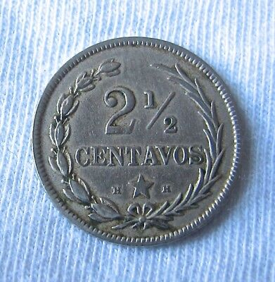 1888 Dominican Republic 2 1/2 H-H Centavos Better type!