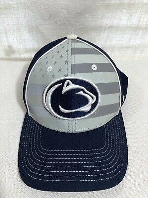 740cceade58fec Penn State Nittany Lions NCAA Size M/L Fitted Hat Cap Zephyr American Flag  Rare