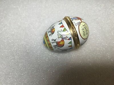 Halcyon Days Enamels Egg Shape 1988 Trinket Pill Box