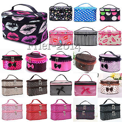 Multifunction Purse Box Travel Makeup Cosmetic Bag Toiletry Case Pouch Storage
