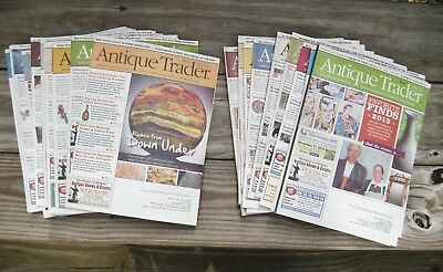Antique Trader Magazine 2013-2014 Antiques & Collectibles Lot of 23 Issues