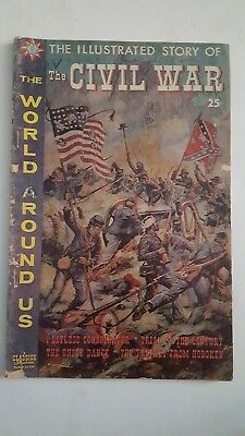 Vintage The World Around Us The Illustrated Story Of The Civil War #26 Oct 1960