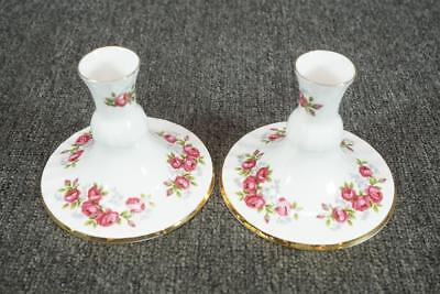 Royal Sutherland Made In Staffordshire Fine Bone China Set Of 2 Candle Holders