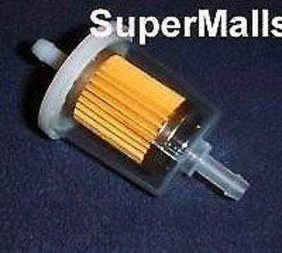 """In-Line Fuel Filter 5/16"""" Clear Fits 5/16"""" Id Hose Free Ship"""