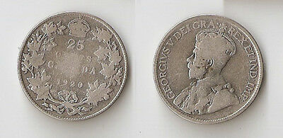 Canada 25 cents 1920