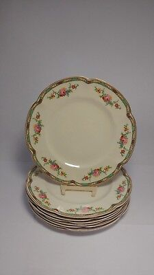 """Set of EIGHT Johnson Brothers Pareek The Connaught 8 1/8"""" Salad Plates"""