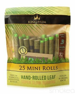 King Palm Mini Rolls Leaf Organic - 1 PACK -  25 Per Pack Filter + Boveda 72%